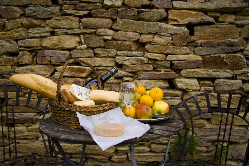 francuski lunch fotografia royalty free
