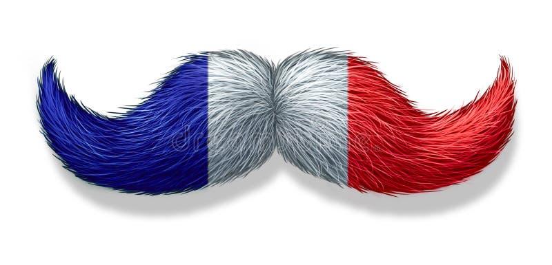 Francuski mężczyzna symbol ilustracji