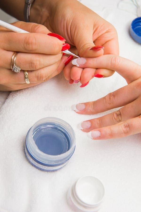 Francuski manicure fotografia royalty free