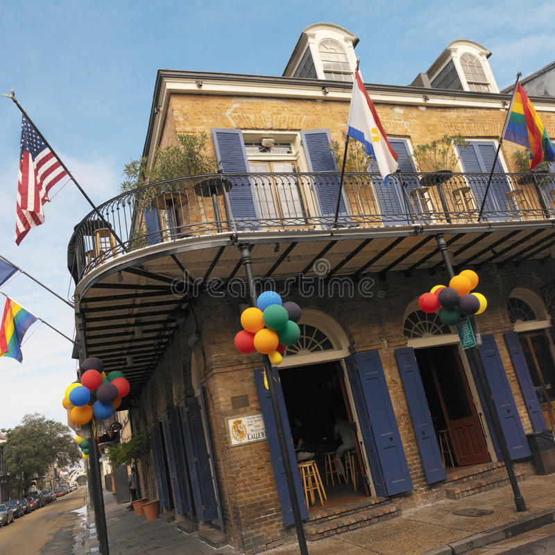 francuski nowy Orleans kwartalni usa obraz royalty free