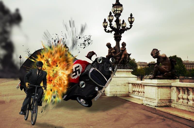 Francuski opór royalty ilustracja
