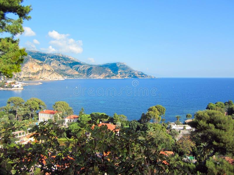 Francuski Riveria przegapia nad Cap Ferrat zdjęcia royalty free