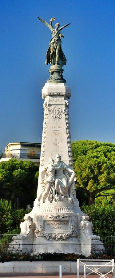 Francuski Riviera, pejzaż miejski Ładny Francja obraz royalty free