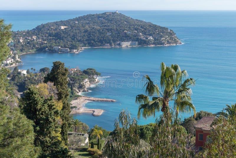 Francuski Riviera Przylądek Ferrat zdjęcia stock