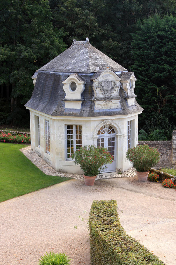 Francuski sunhouse i czytelniczy pokój zdjęcie royalty free