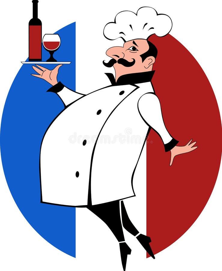 Francuski szef kuchni royalty ilustracja