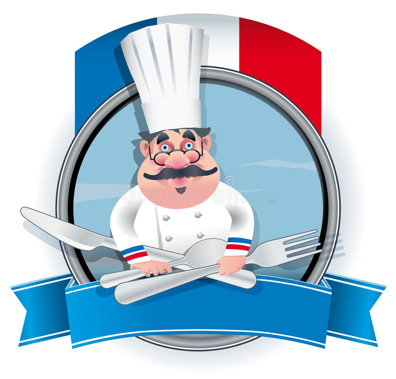 Francuski szef kuchni ilustracja wektor