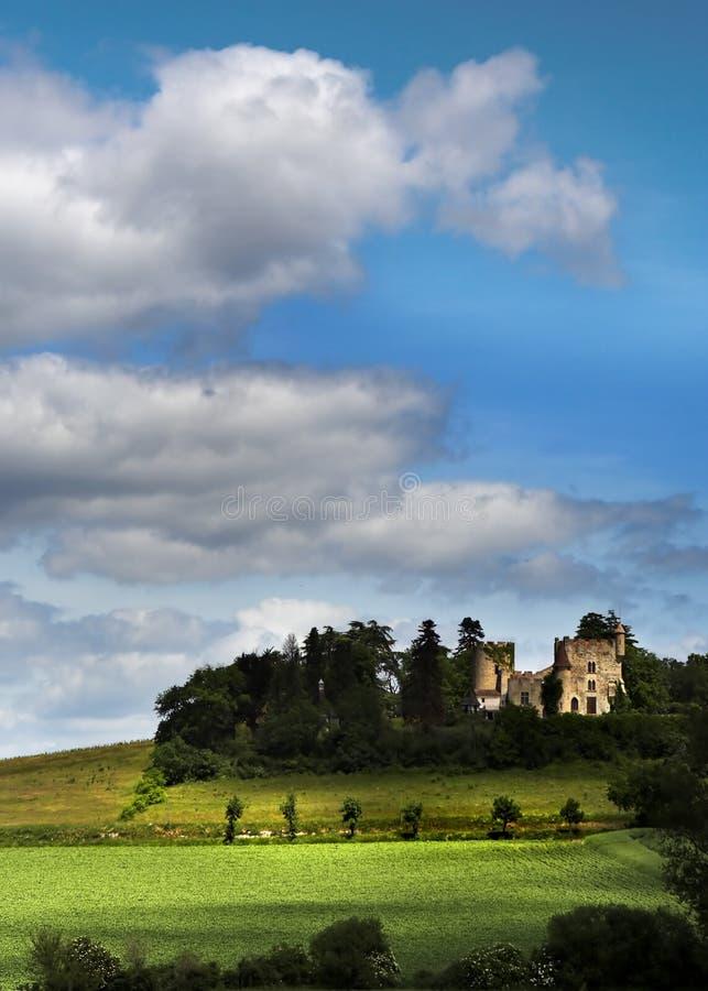 francuski zamek zdjęcia royalty free