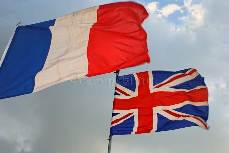 francuskie British flaga fotografia royalty free