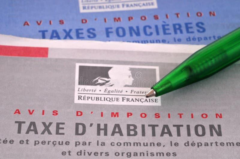 Francuskie formy podatek majątkowy fotografia stock