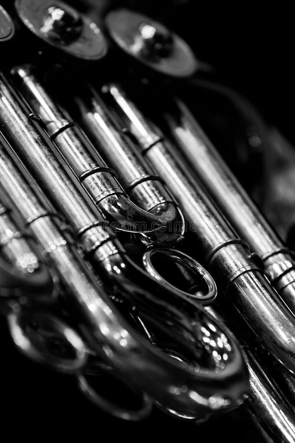 francuskie odłamki rogu instrumentu musicalu wiatr fotografia royalty free