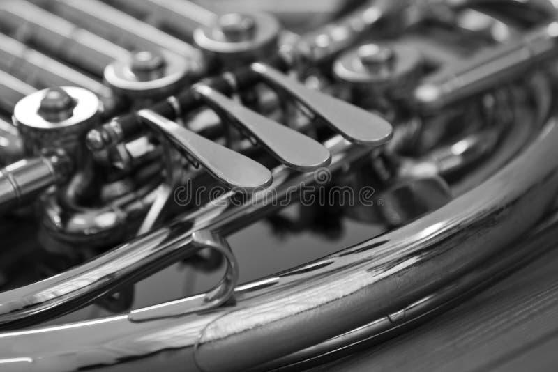 francuskie odłamki rogu instrumentu musicalu wiatr zdjęcia royalty free