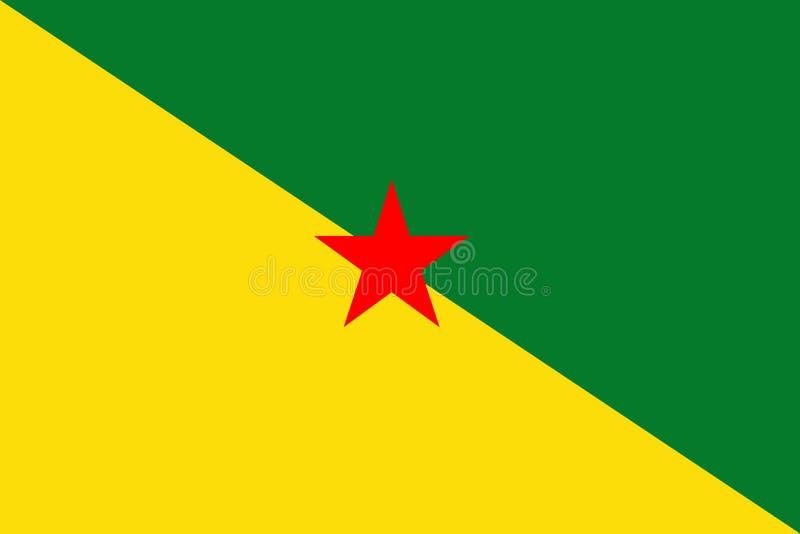 Francuskiego Guiana flaga ilustracji