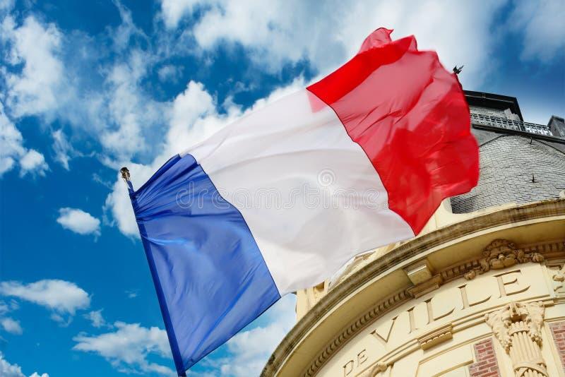 Francuz flaga zdjęcia stock