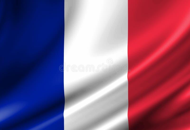 Francuz flaga ilustracji
