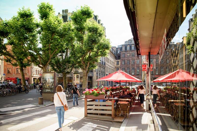 Francuza Chez Prętowy marco w Środkowym Strasburg obraz stock