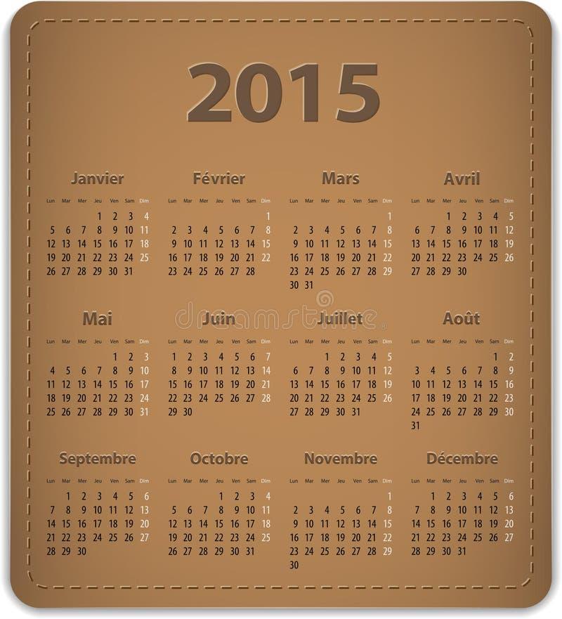 2015 francuza kalendarz ilustracji