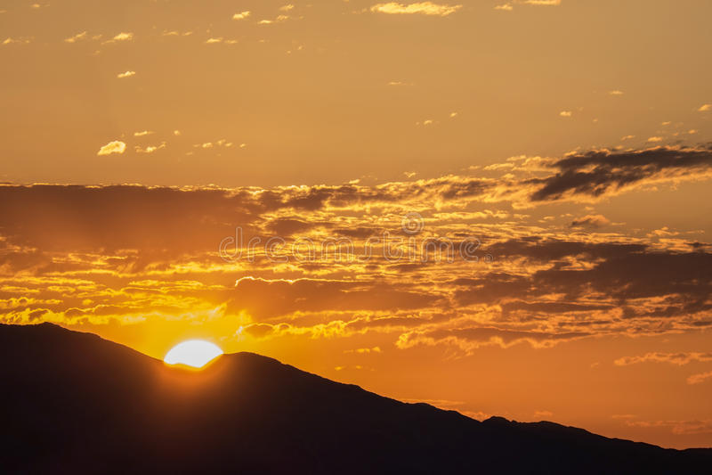 Francuza Mountian Las Vegas doliny wschód słońca obrazy stock