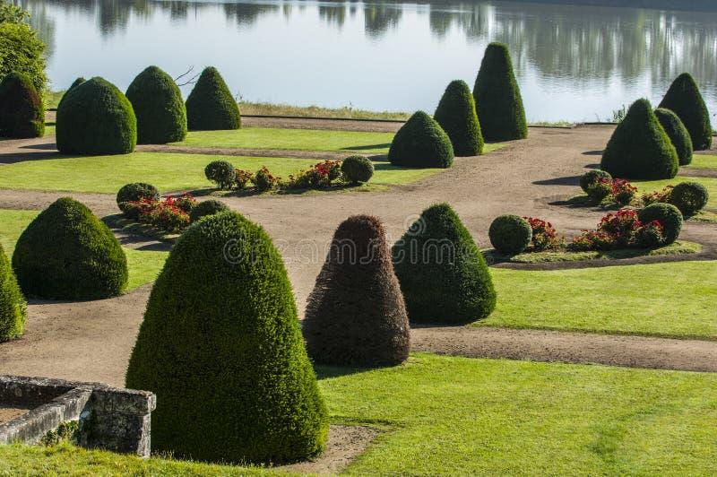 Francuza ogród, kasztel Vayres w Gironde fotografia royalty free