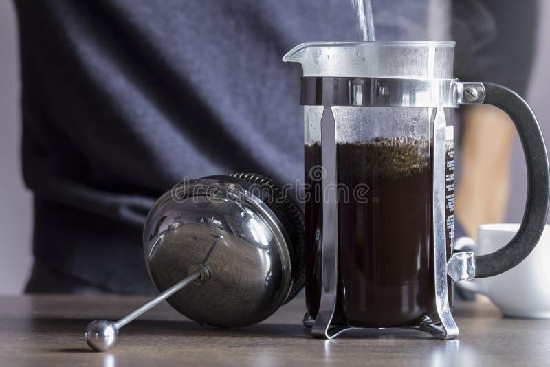 Francuza prasowy kawowy producent obrazy stock
