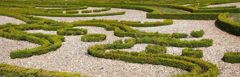 francuza widok ogrodowy ładny panoramiczny obraz stock