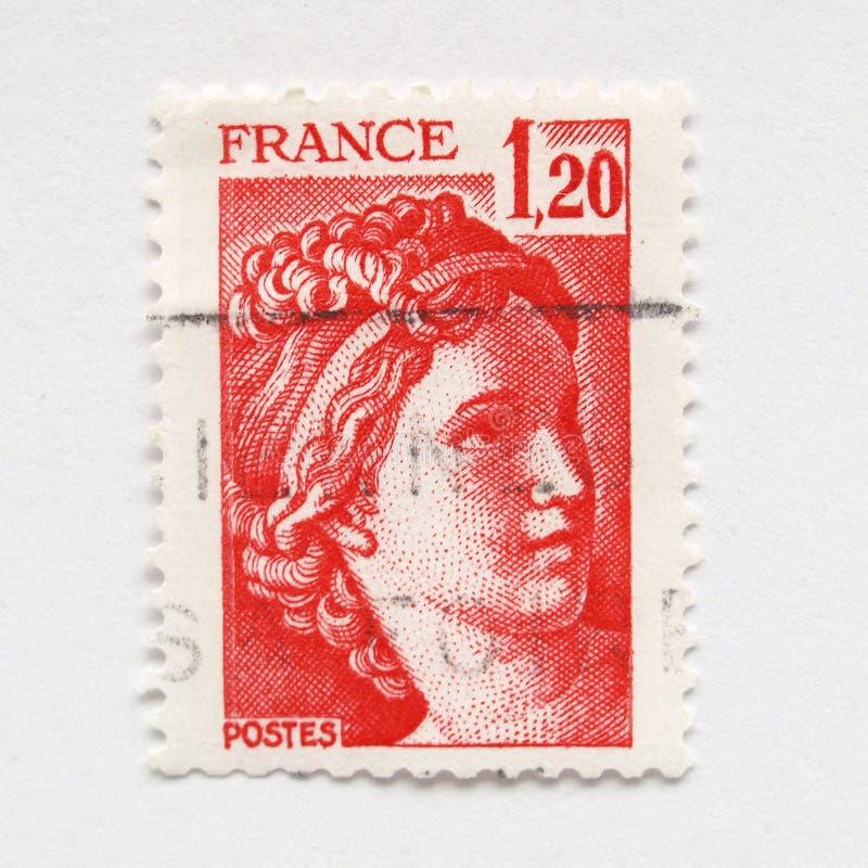 francuza znaczek zdjęcia stock