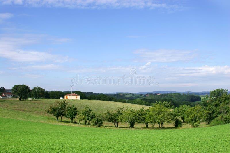 Francuzi Domu Wiejskiego Krajobrazu Obraz Royalty Free