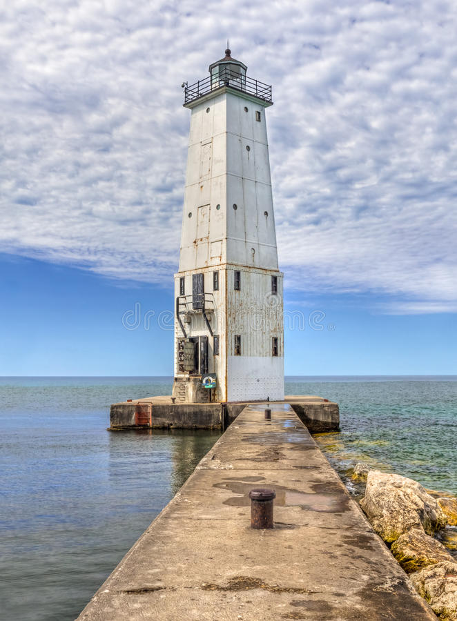 Franfort falochronu Północna latarnia morska obrazy royalty free