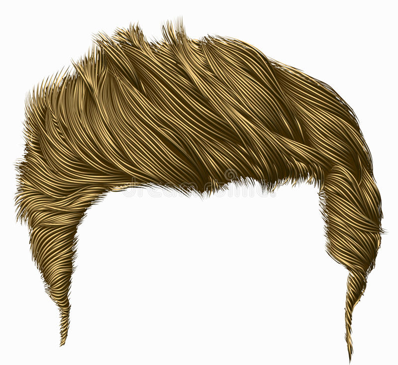 Frange élégante à la mode de poils d'homme dénommer élevé de cheveux 3d réaliste illustration stock