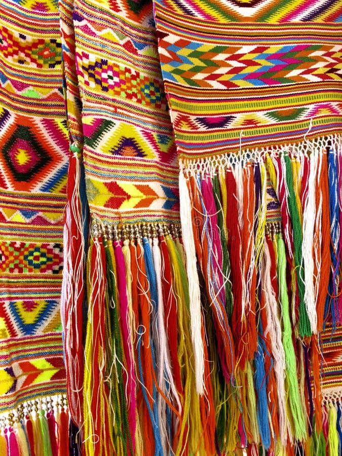Franges colorées - une partie de beau métier fait main images libres de droits