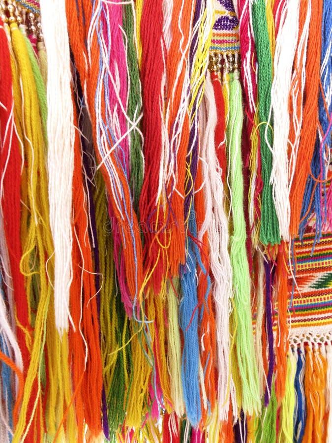 Franges colorées - une partie de beau métier fait main photo stock