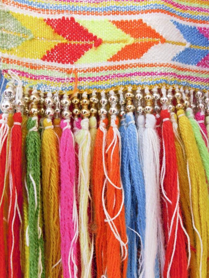 Franges colorées - une partie de beau métier fait main image libre de droits