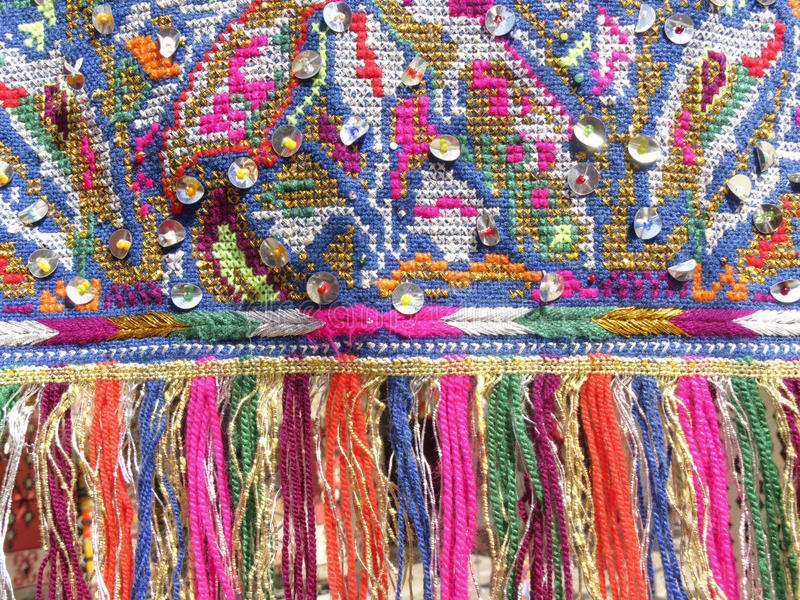 Franges colorées - une partie de beau métier fait main photos libres de droits