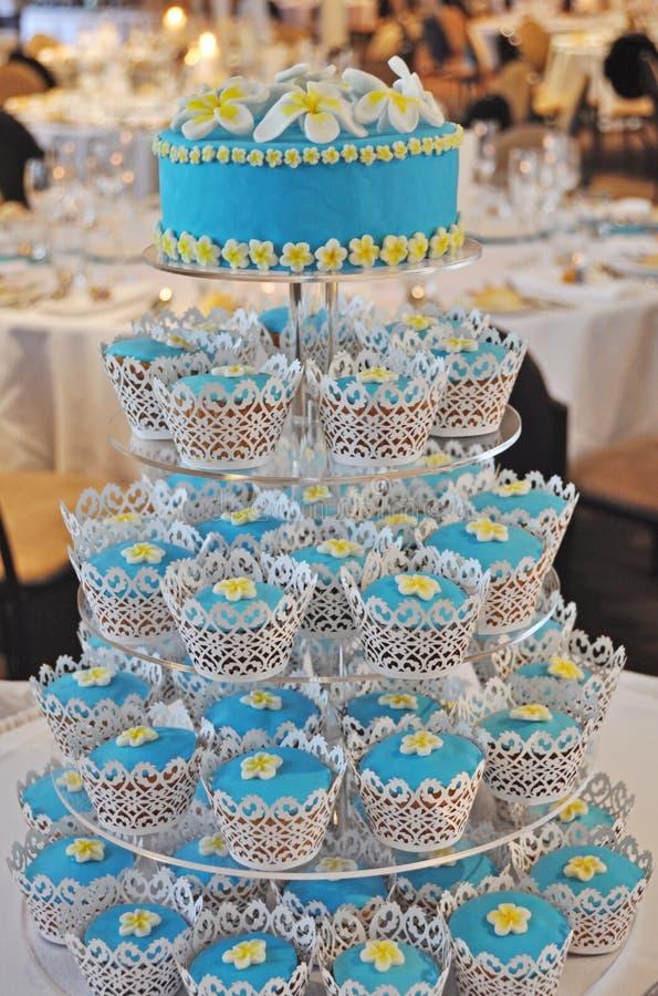 A Frangipani Cupcake Wedding Cake at the Reception