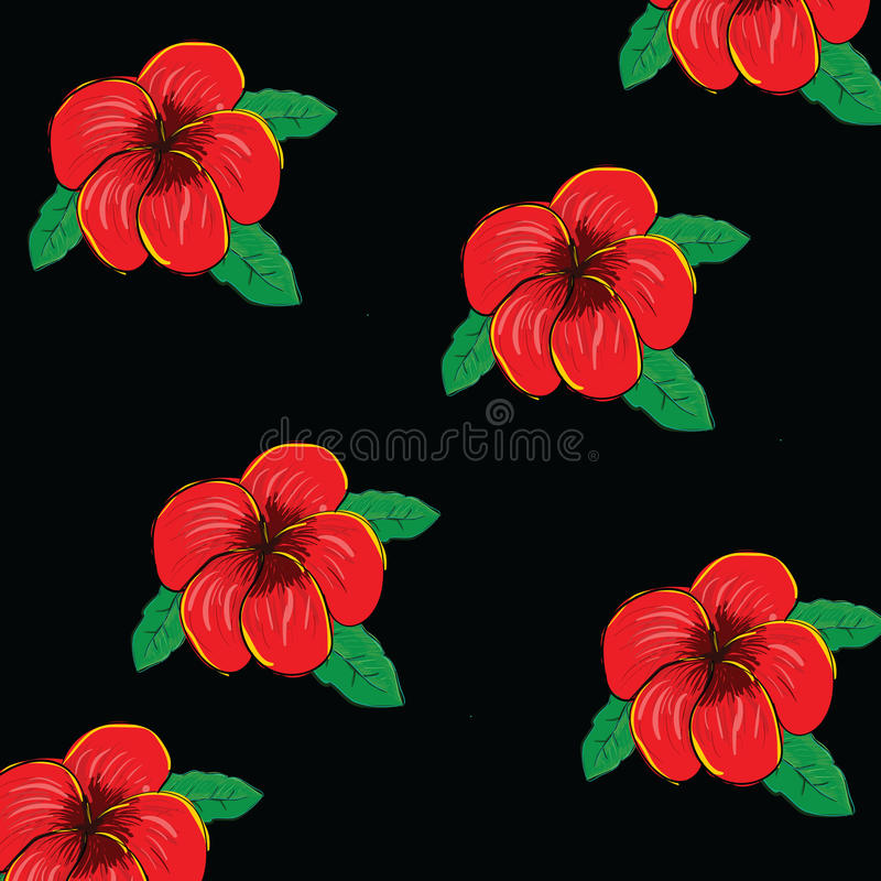 Frangipani flower backgreund stock illustration