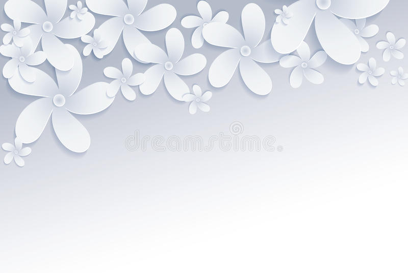 Frangipaniblumen-Vektorhintergrund lizenzfreie abbildung