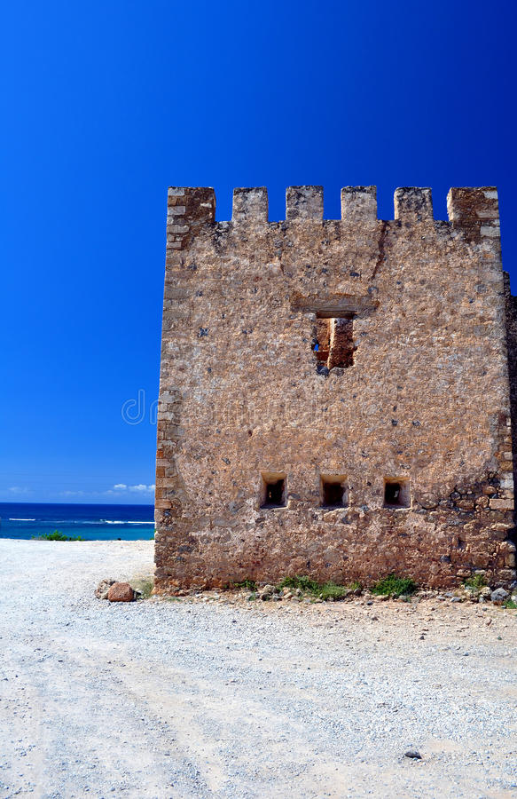 Frangocastello castle. stock images