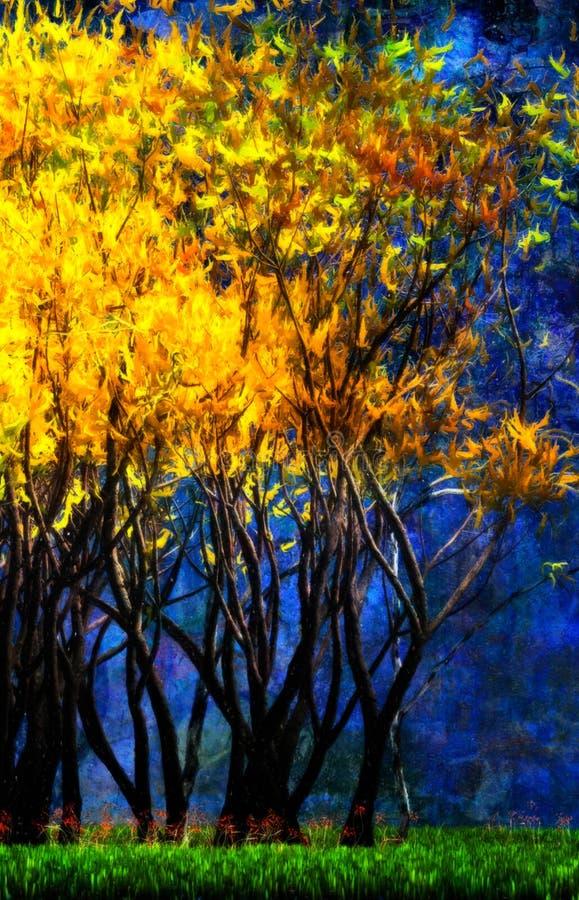 Franja de uma floresta surreal. ilustração stock