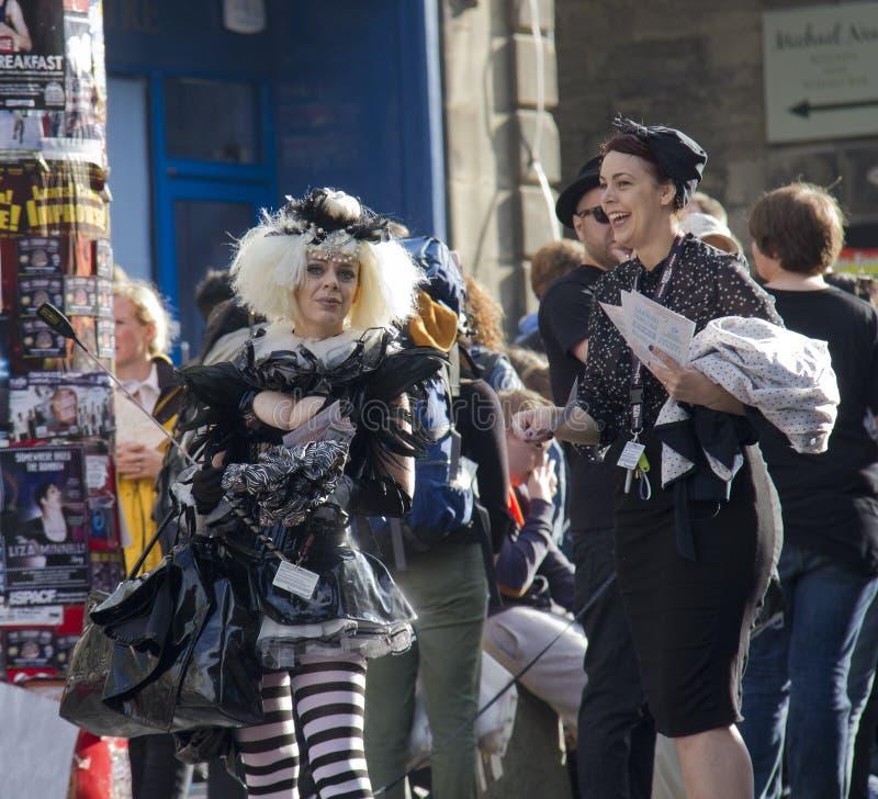 Franja do festival de Edimburgo fotos de stock