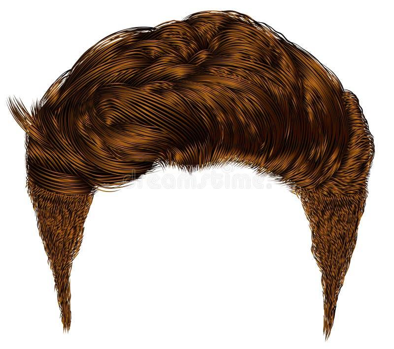 Franja elegante de moda de los pelos del hombre ilustración del vector