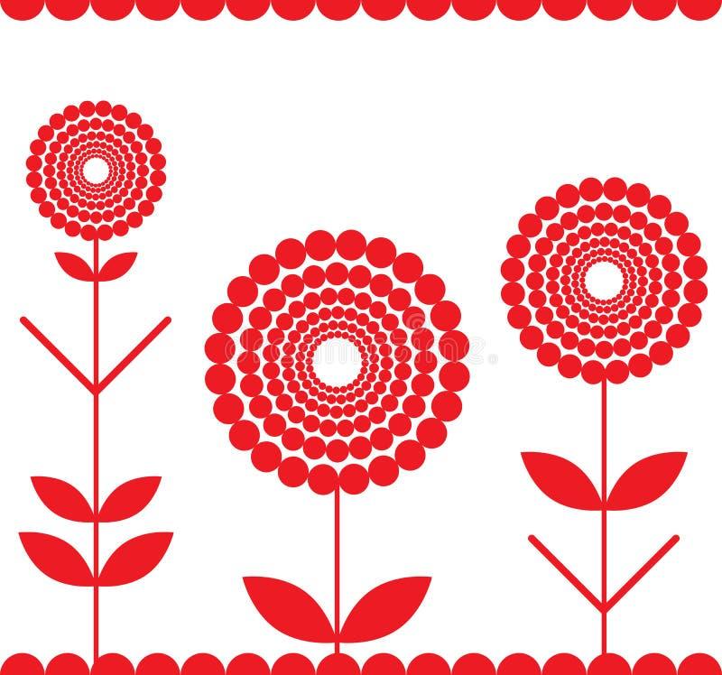 Franja roja ilustración del vector