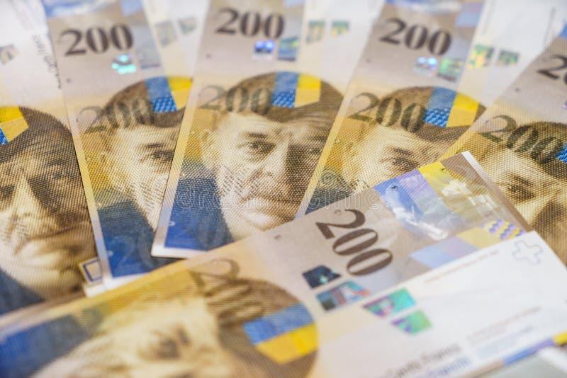 franków szwajcarskich fotografia stock