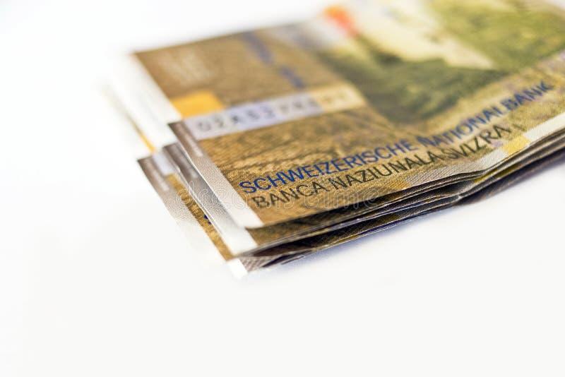 franków szwajcarskich zdjęcie stock
