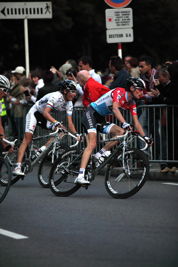 Frank&Andy Schleck stock afbeelding