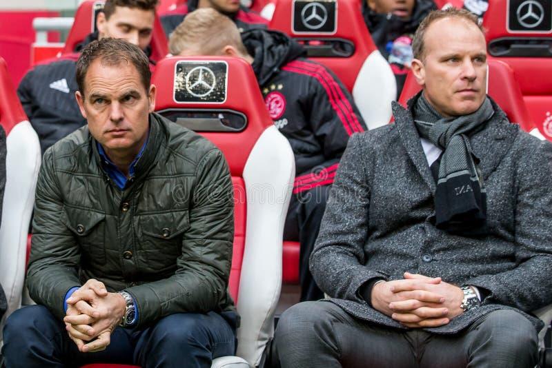 Frank de Boer et Dennis Bergkamp photos libres de droits