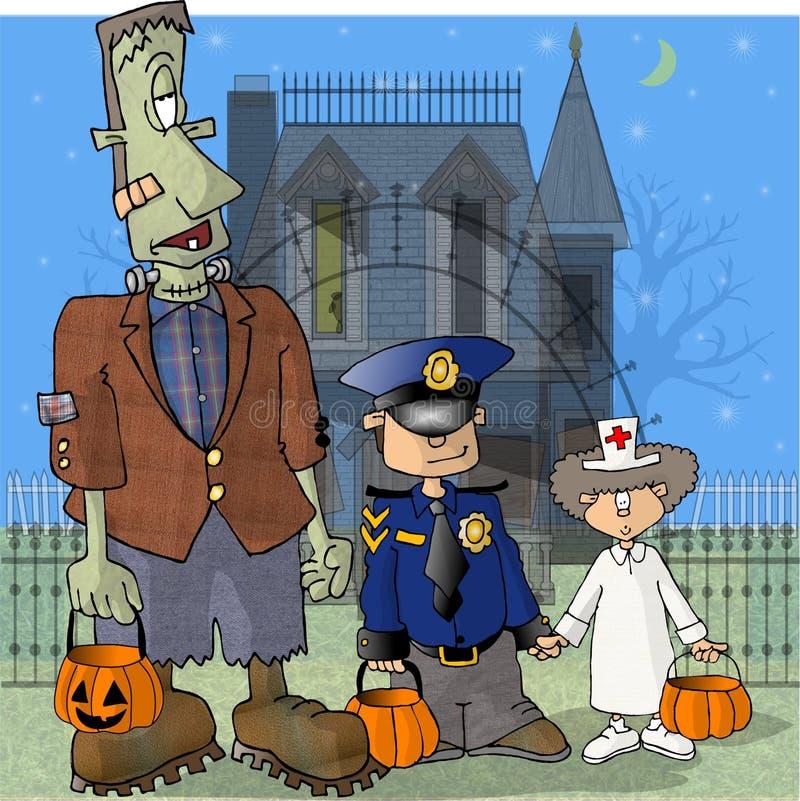 Frank et deux amis illustration libre de droits