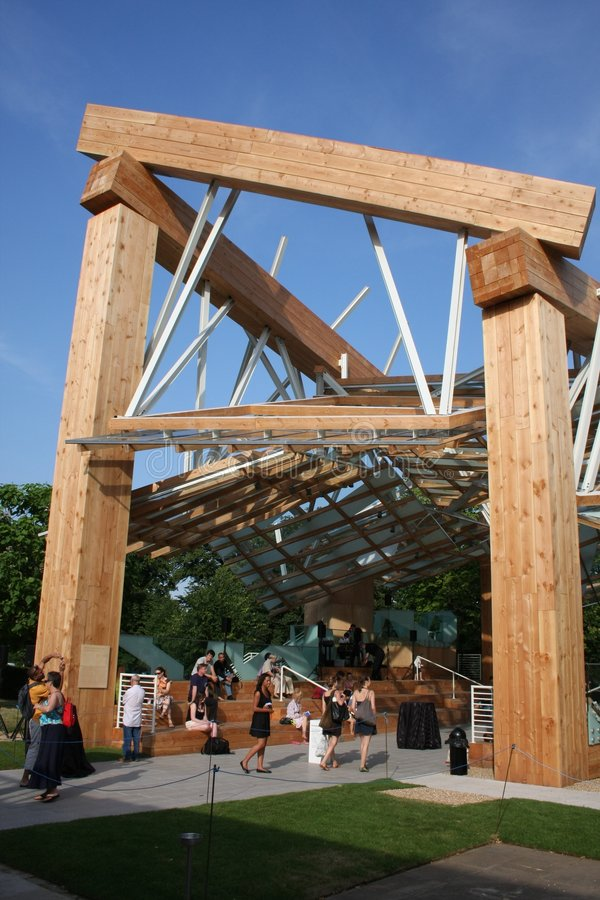 Frank Gehry's Temporary Exhibition - SW View stock photo