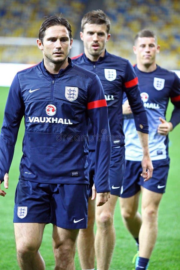 Frank Lampard, Michael Carrick und James Milner von England stockfotografie