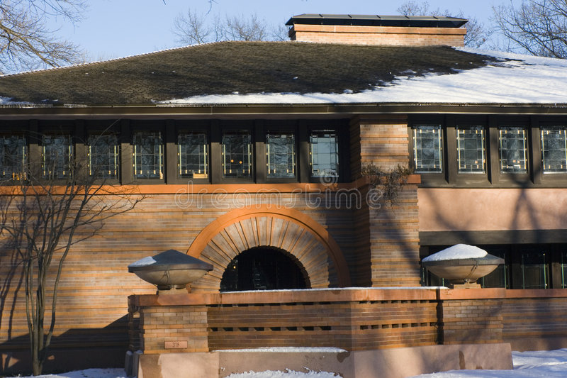 Download Frank Lloyd's house stock image. Image of chicago, door - 4623625
