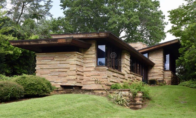 Frank Lloyd Wright dom w Tennessee obrazy stock